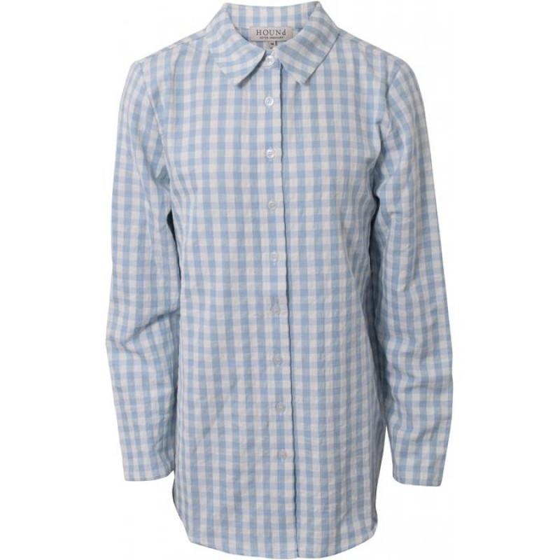 HOUND Skjorte Tunika Lyseblå-31