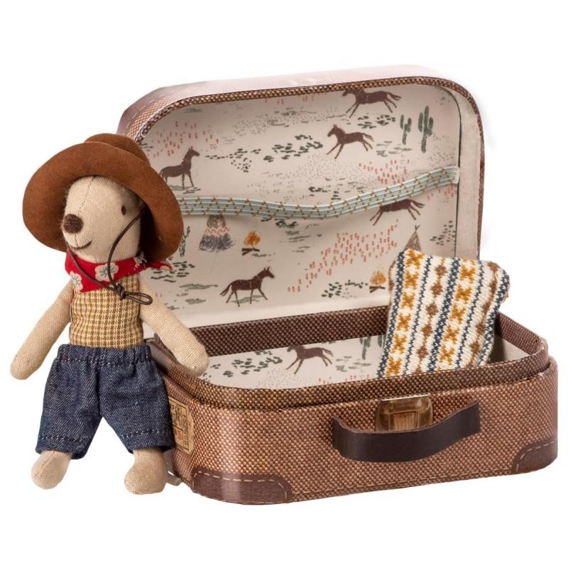 MAILEG Cowboy i en kuffert Little brother mouse-02