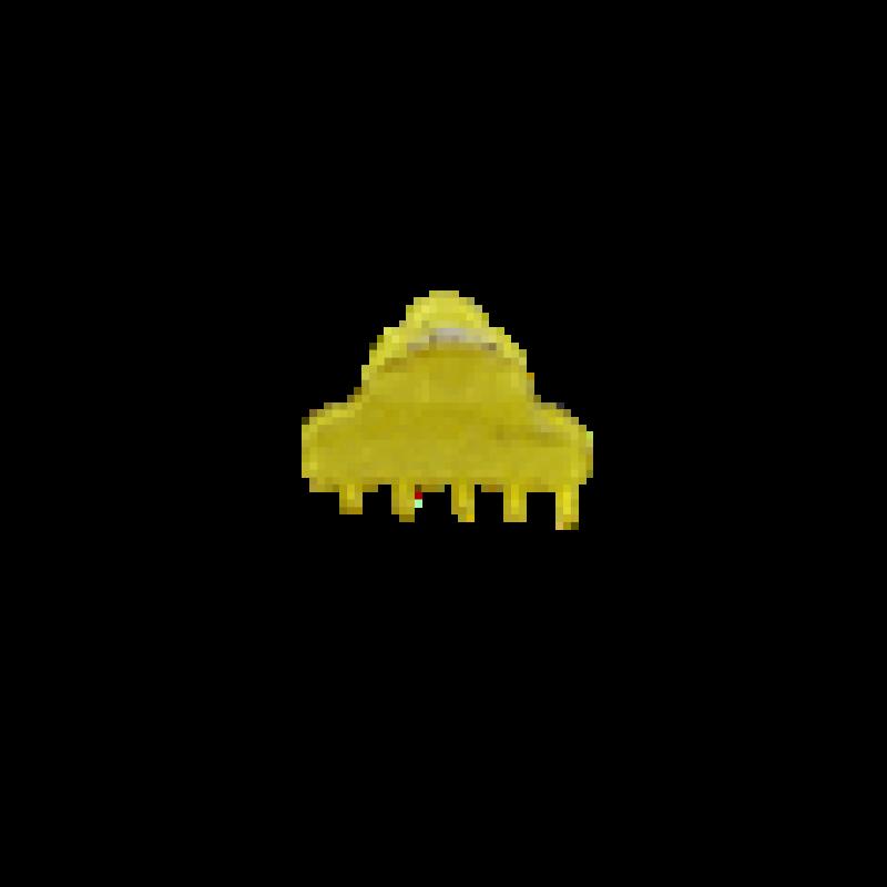 BOW´S BY STÆR Else mini hairclaw Yellow glitter-37