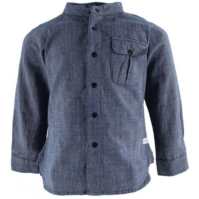 EN FANT Skjorte Blåmeleret-31