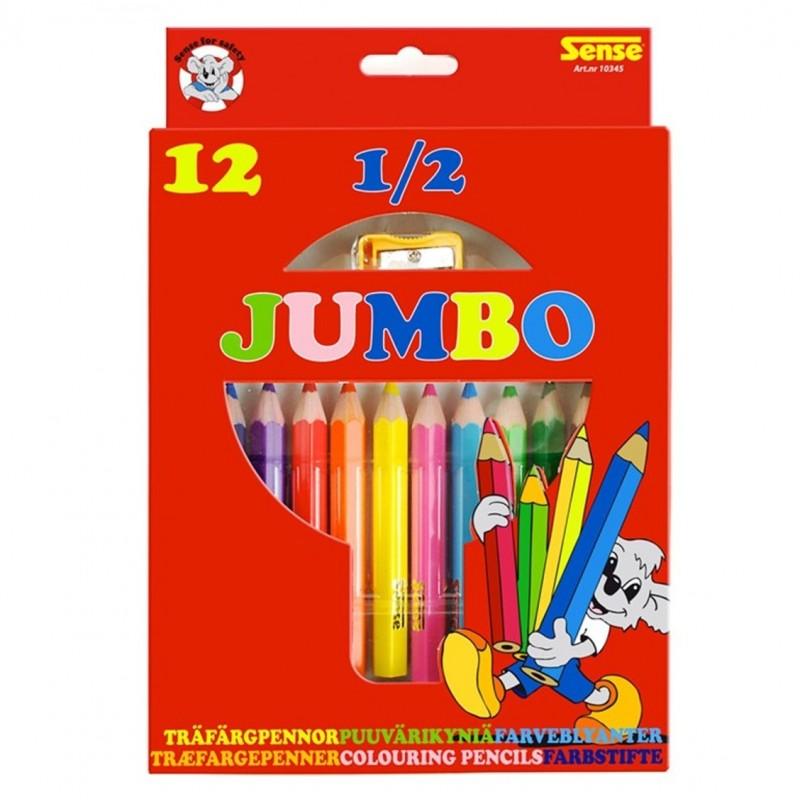 FORLAGET BOLDEN Jumbo-mini blyanter (pakke med 12 stk.)-36