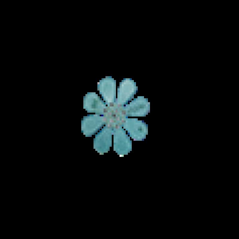 BOW´S BY STÆR Flower Blue glitter-310