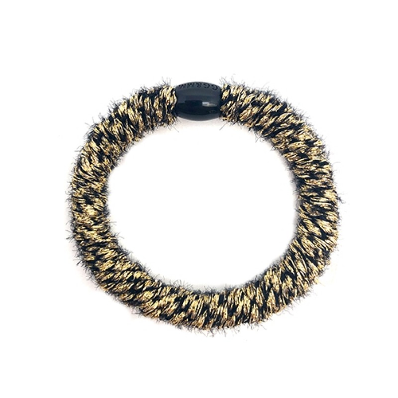 BOW´S BY STÆR Hairties Fluffy Black/Gold-313
