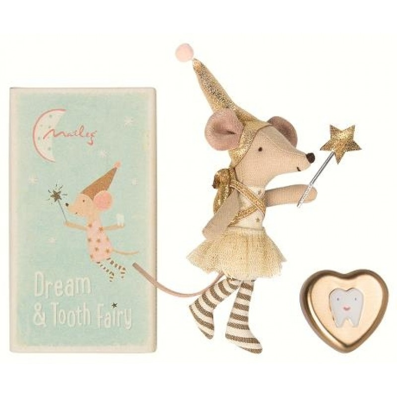 Tooth fairy big sister mouse guld-32