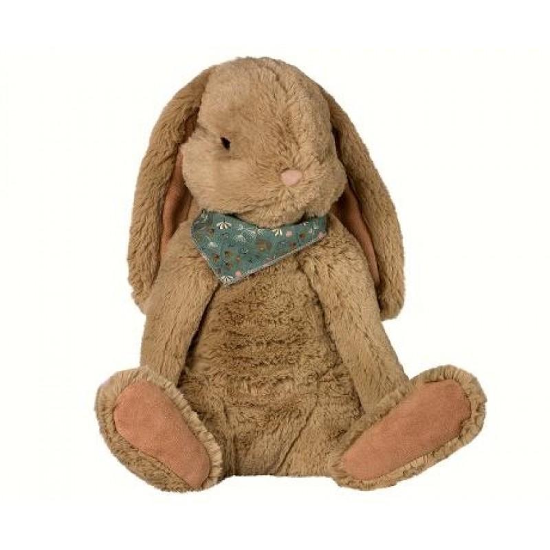 MAILEG Fluffy bunny X-large brun-34