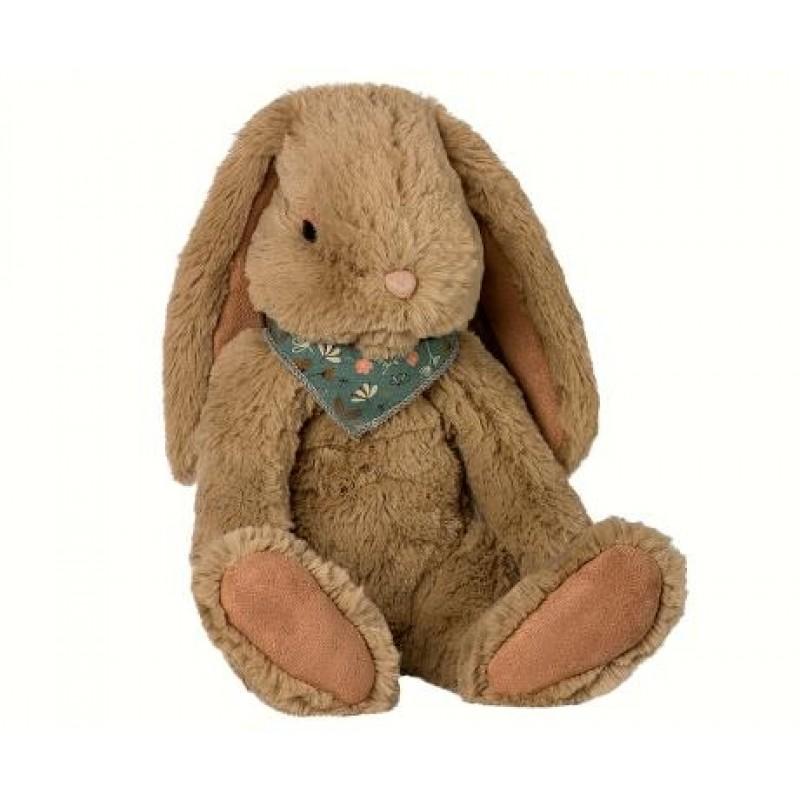 MAILEG Fluffy bunny large brun-32