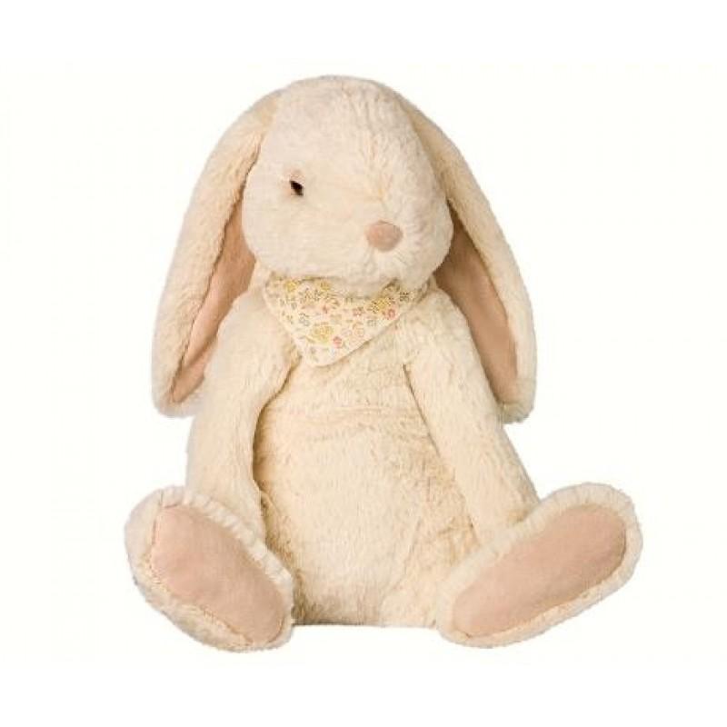 MAILEG Fluffy bunny X-large råhvid-33