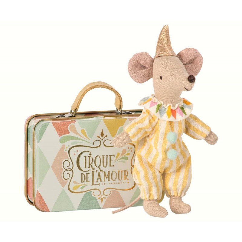 Clown mouse in suitcase harlekin-37