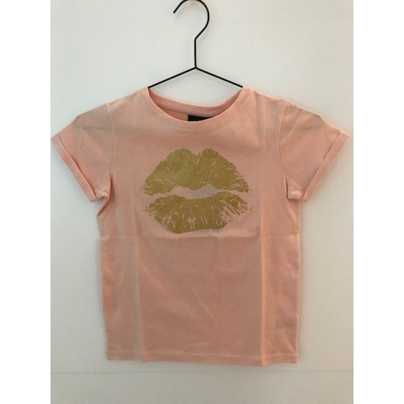 T-shirt with gold lips rose-34