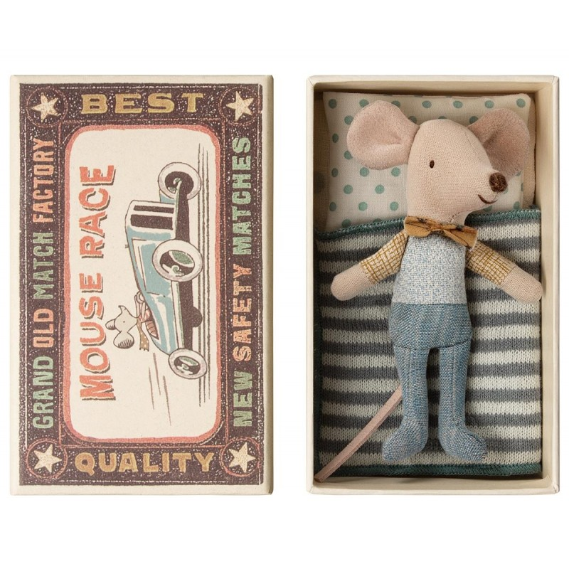 MAILEG Little brother mouse in box-03