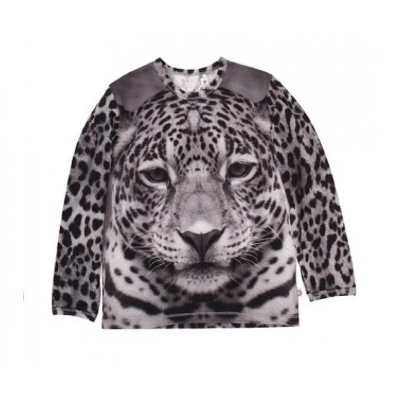 Langærmet bluse i det skønneste leopardprint-32