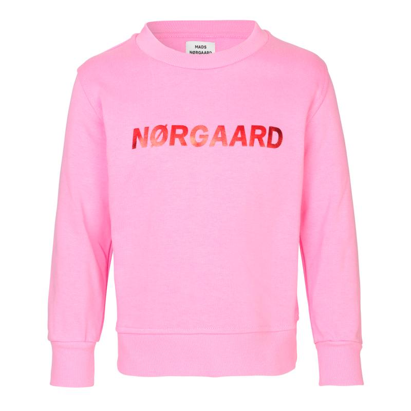 MADS NØRGAARD Sweatshirt med skinnende NØRGAARD print lyserød-31