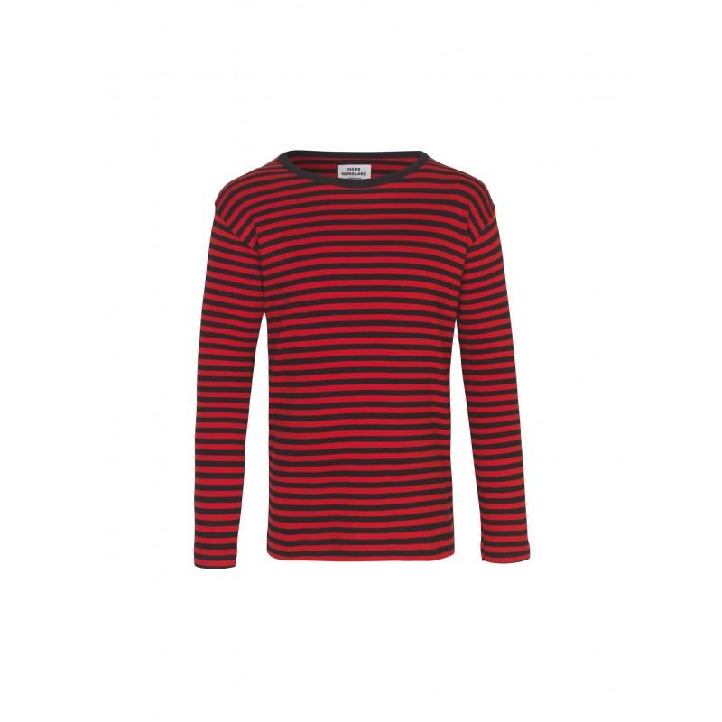 MADS NØRGAARD Tobino lang ærmet T-shirt Black/Red/Black-31