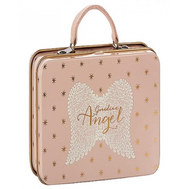 MAILEG Guardian angel metal suitcase lyserød med guld stjerner-32