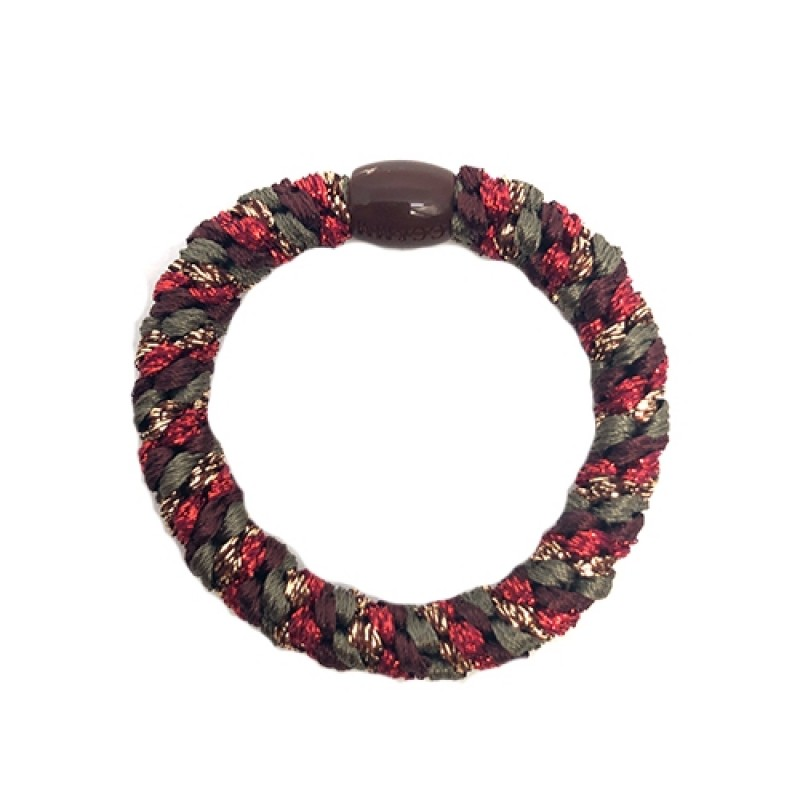 BOW´S BY STÆR Hairties Multi Bordeaux, green, red glitter-34