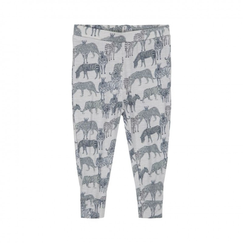 PETIT BY SOFIE SCHNOOR Leggings med dyreprint grey melange-31