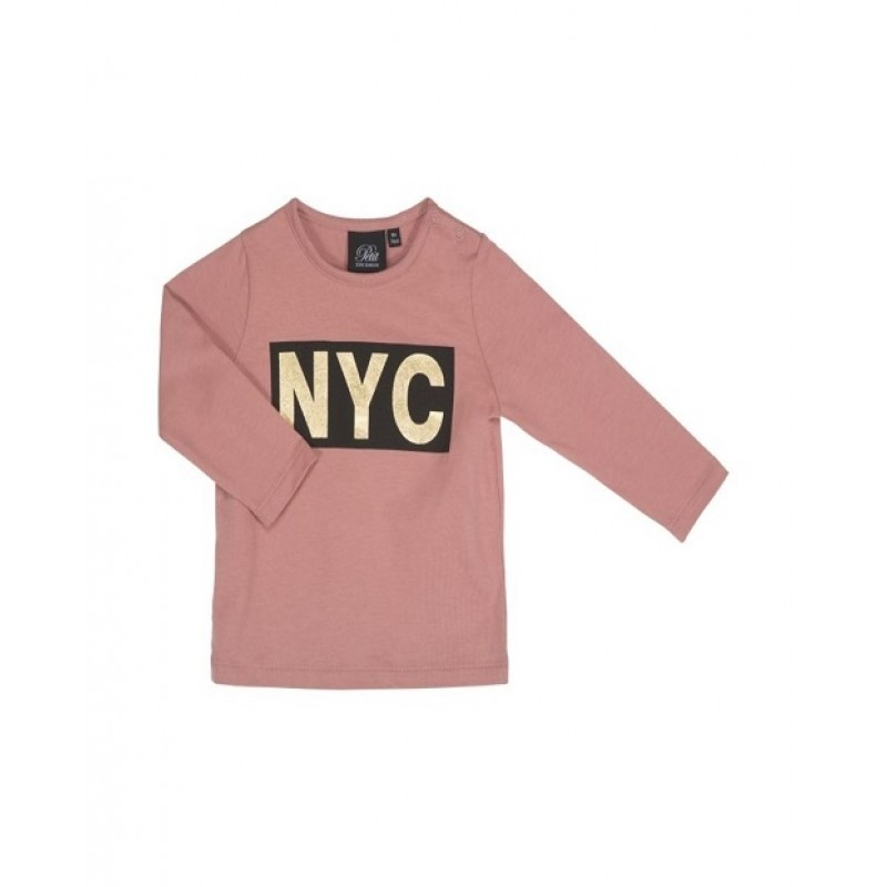 PETIT BY SOFIE SCHNOOR LANGÆRMET SHIRT MED NYC PRINT DUSTY ROSE-31