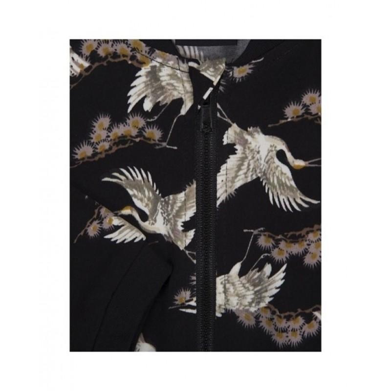 PETIT BY SOFIE SCHNOOR Bukser i smukt fugleprint sort-01