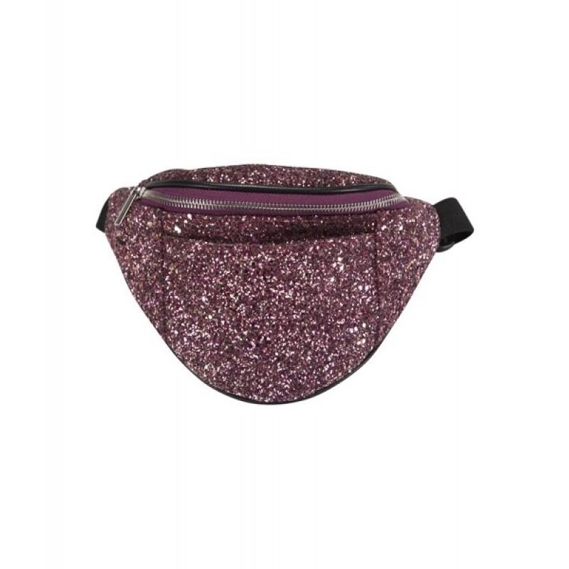 Sej bæltetaske i pink glitter-31