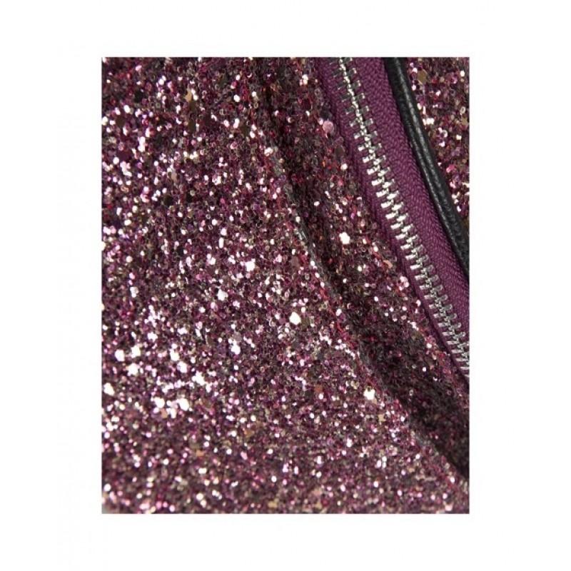 Sej bæltetaske i pink glitter-01