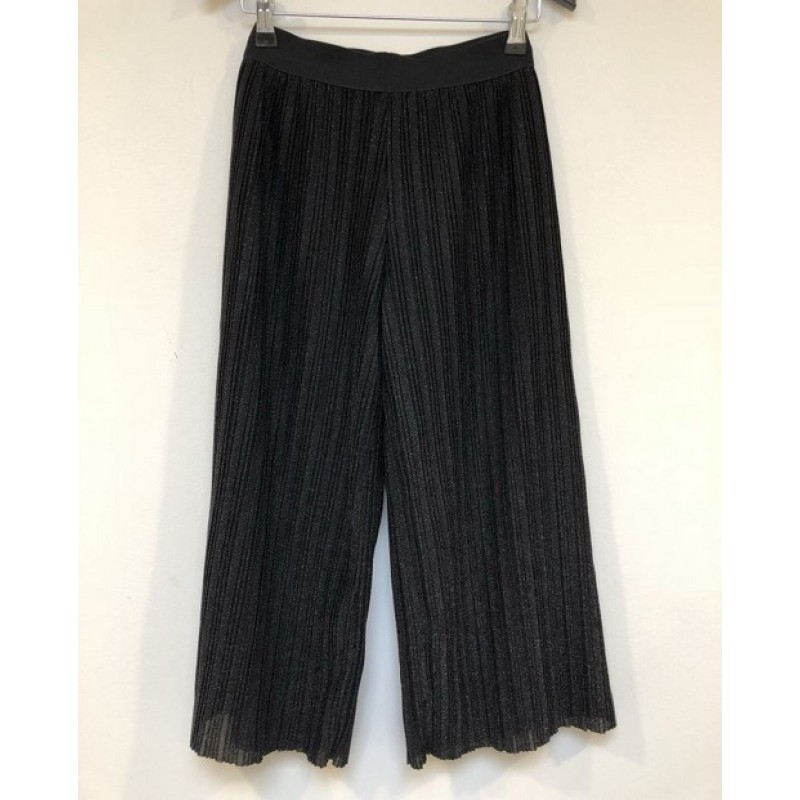 PETIT BY SOFIE SCHNOOR Plisseret culotte wide pants i sort glimmer-35