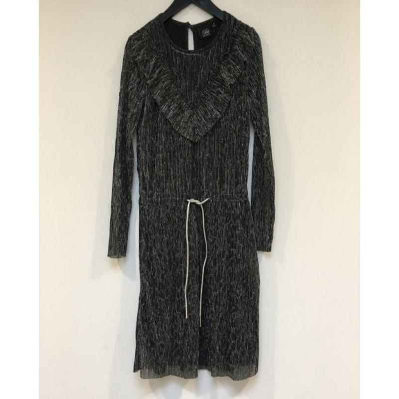 PETIT BY SOFIE SCHNOOR Kjole i crepe stof med leopardmønster sølv-31