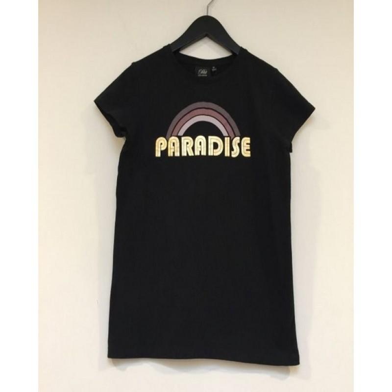 T-shirt med regnbue print og PARADISE sort-31