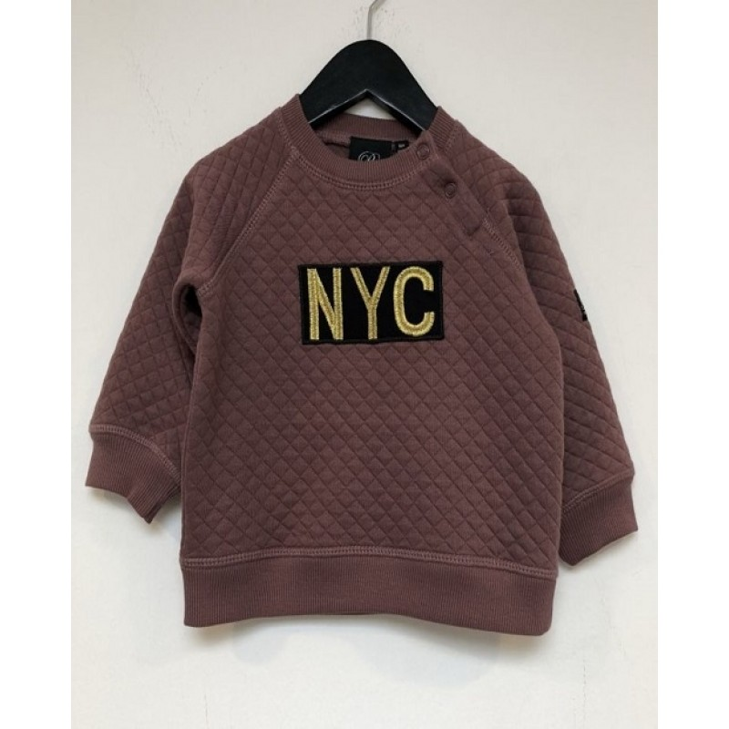"PETIT BY SOFIE SCHNOOR SWEATSHIRT MED ""NYC"" OLD PURPLE-311"
