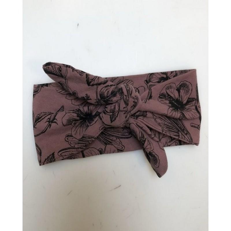 PETIT BY SOFIE SCHNOOR Hårbånd med print af blomster og kolibrier old purple-31