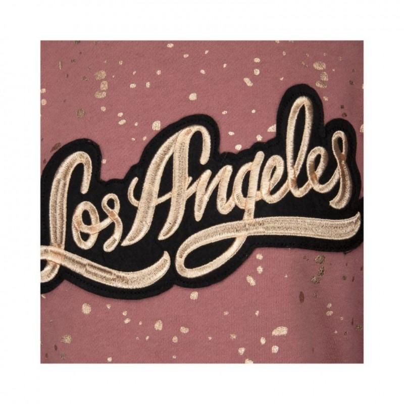 """PETIT BY SOFIE SCHNOOR SWEATSHIRT MED """"LOS ANGELES""""-BADGE OLD ROSE-011"""