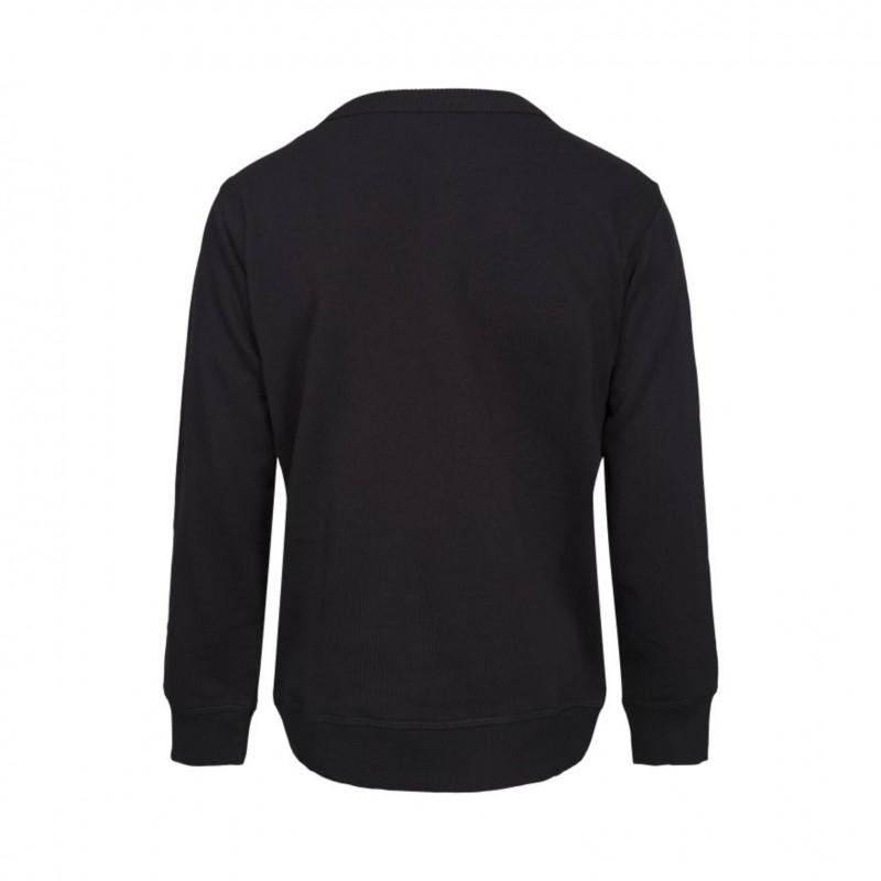 PETIT BY SOFIE SCHNOOR Sweatshirt med rosa plys sort-01