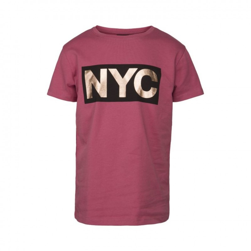 PETIT BY SOFIE SCHNOOR T-shirt med NYC-print cherry red-313