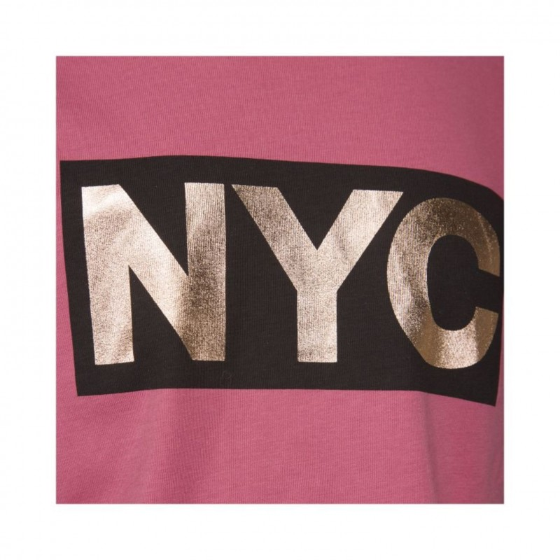 PETIT BY SOFIE SCHNOOR T-shirt med NYC-print cherry red-013