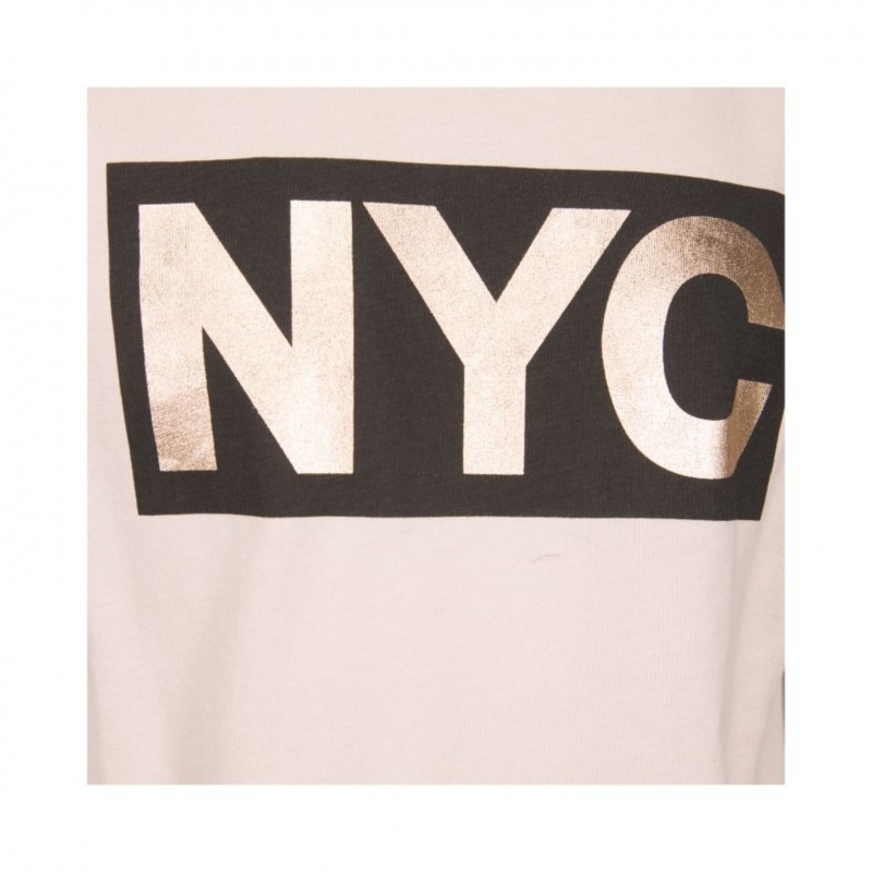 PETIT BY SOFIE SCHNOOR T-shirt med NYC-print cameo rose-010