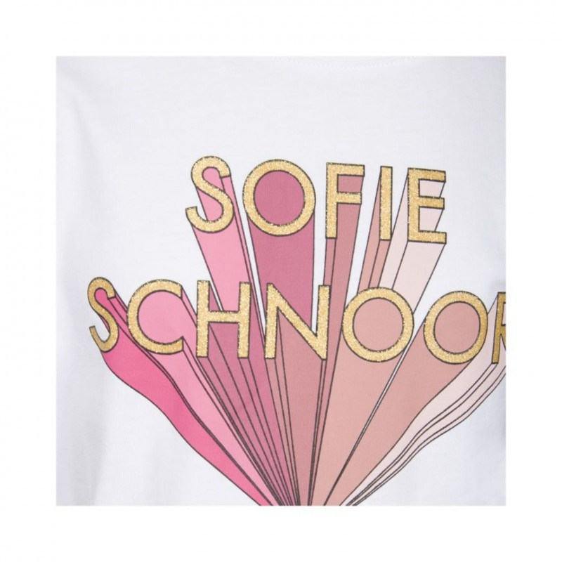 PETIT BY SOFIE SCHNOOR T-shirt hvid med rosa print-04