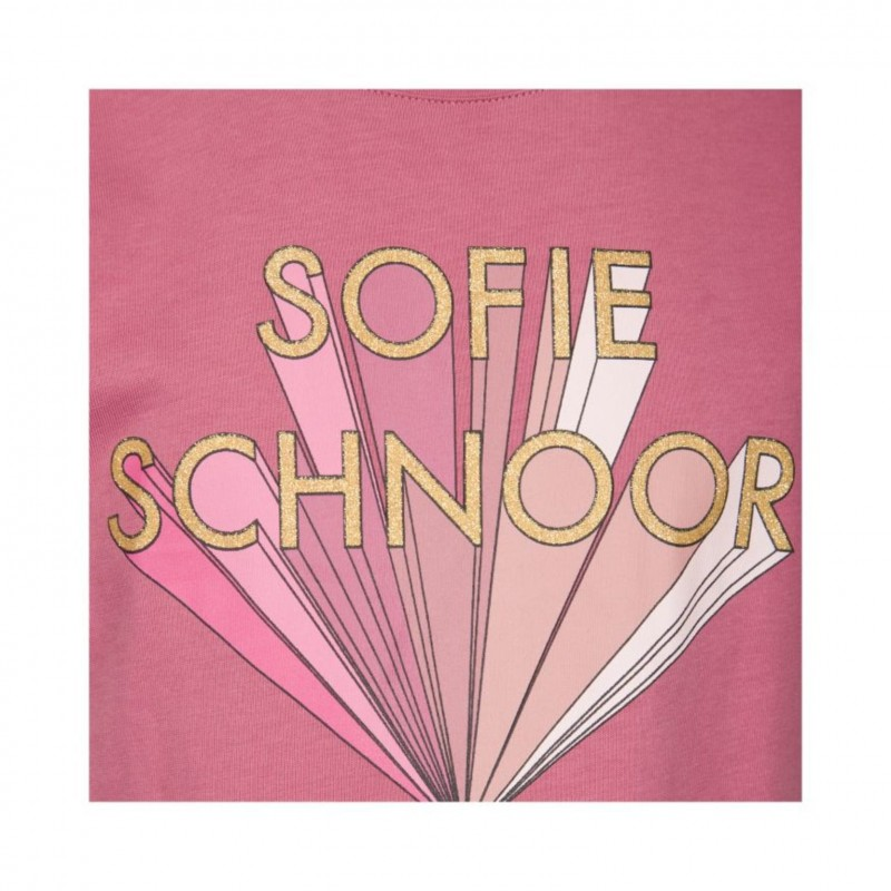PETIT BY SOFIE SCHNOOR T-shirt cherry red med rosa print-07