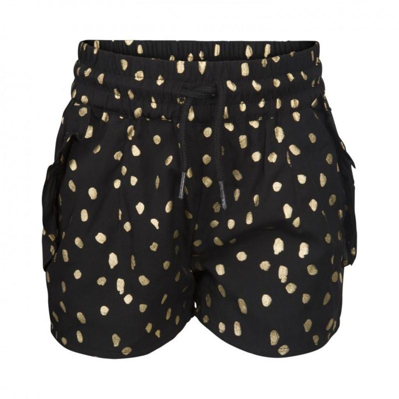 PETIT BY SOFIE SCHNOOR Shorts med flæser sort med guld-31