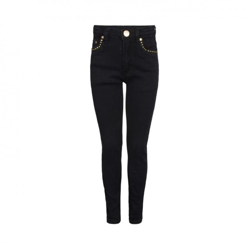PETIT BY SOFIE SCHNOOR Jeans med stretch og flotte guld detaljer sort-31
