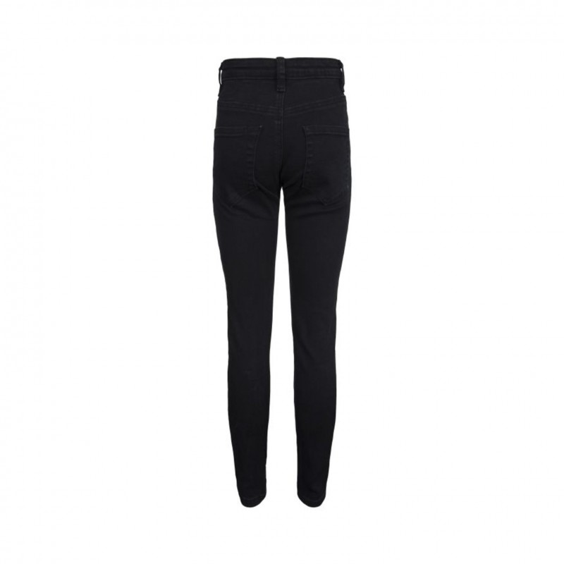 PETIT BY SOFIE SCHNOOR Jeans med stretch og flotte guld detaljer sort-01