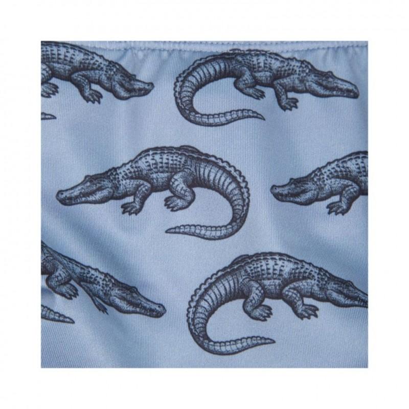 PETIT BY SOFIE SCHNOOR Swim pants med krokodille print dusty blue-01