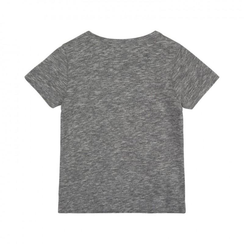 PETIT BY SOFIE SCHNOOR T-shirt med WILD tiger broderi grey melange-01