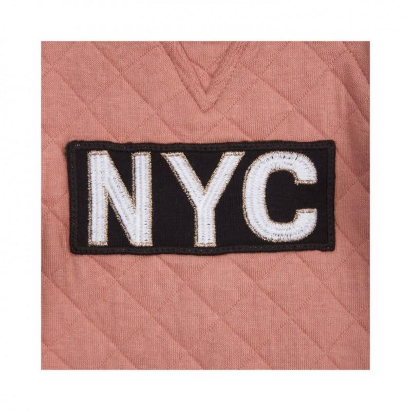 """PETIT BY SOFIE SCHNOOR SWEATSHIRT MED """"NYC"""" BURNED CORAL-012"""