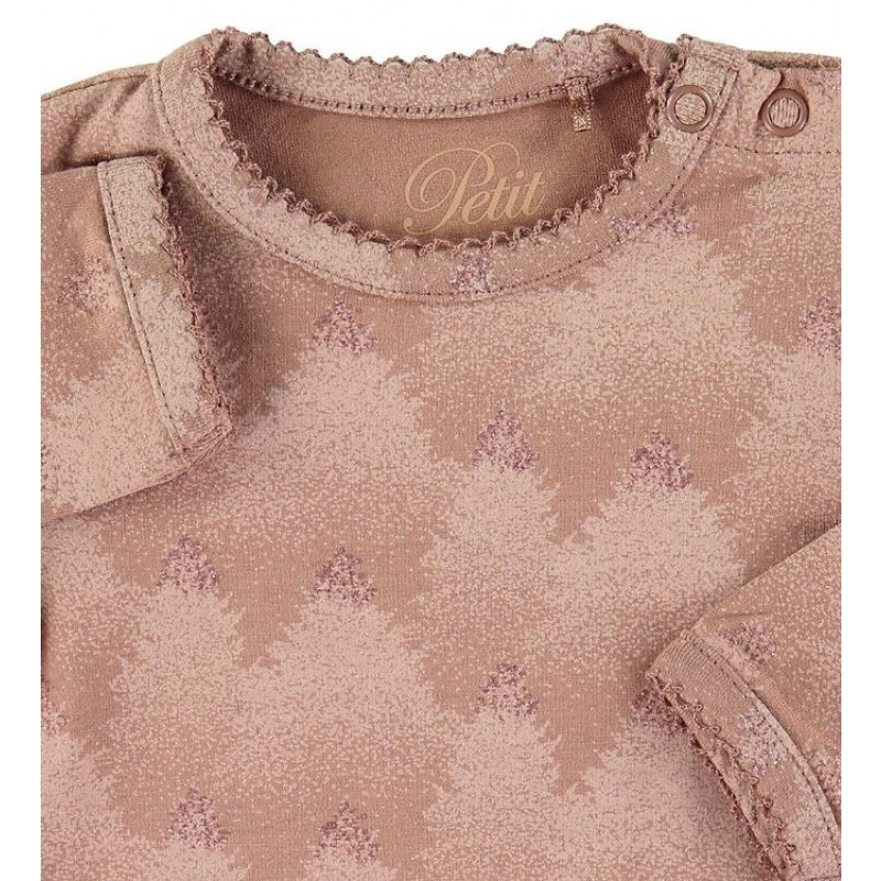 PETIT BY SOFIE SCHNOOR Langærmet body Rosy Brown-01
