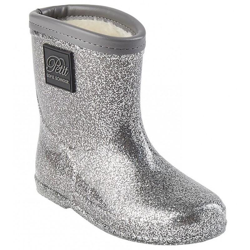 PETIT BY SOFIE SCHNOOR Gummistøvler med for Sølv-31