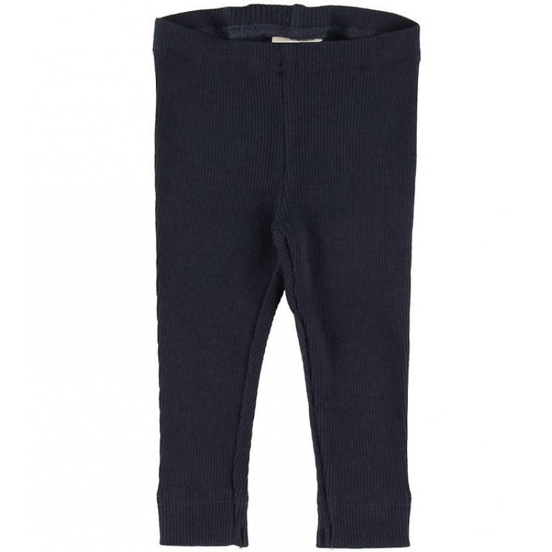 PETIT PIAO Leggings i rib Blå-32