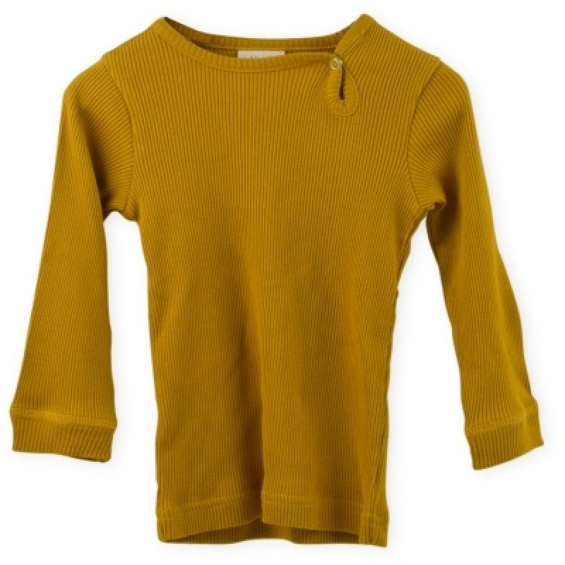 PETIT PIAO Modal L/S T-shirt Mustard-32