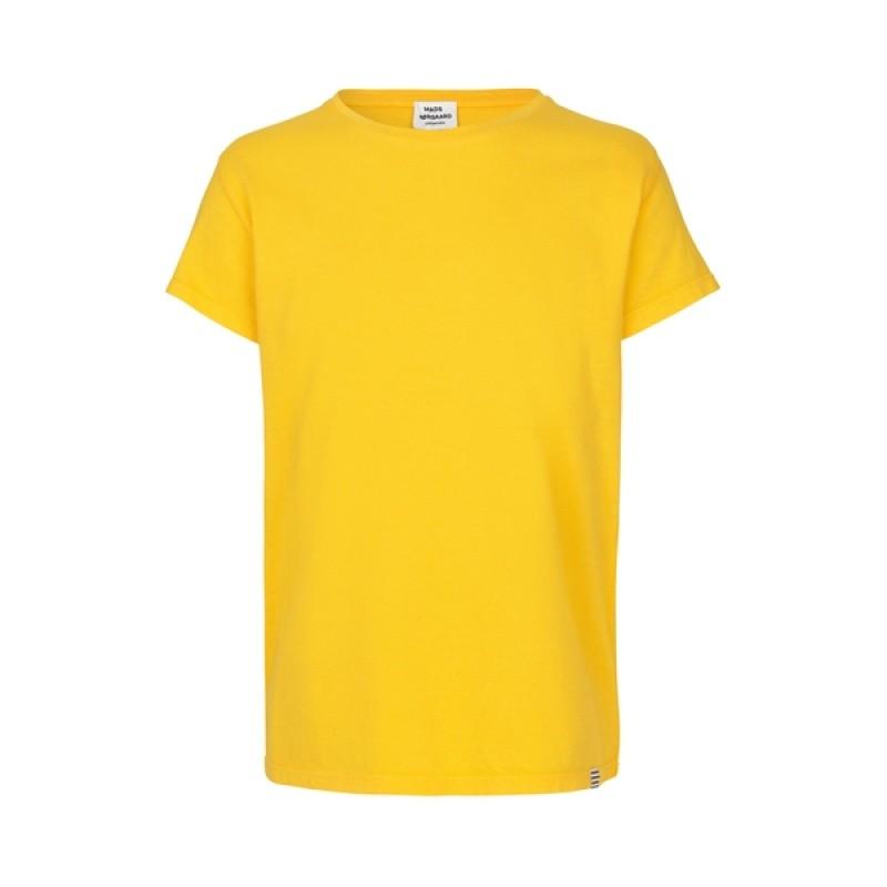 MADS NØRGAARD Smart, klassisk T-shirt solsikkegul-32