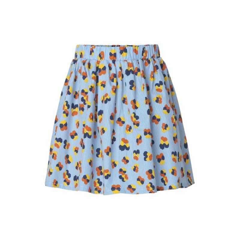 MADS NØRGAARD Skirt med blomster Flower Stripe Pop Skylina Multi-34