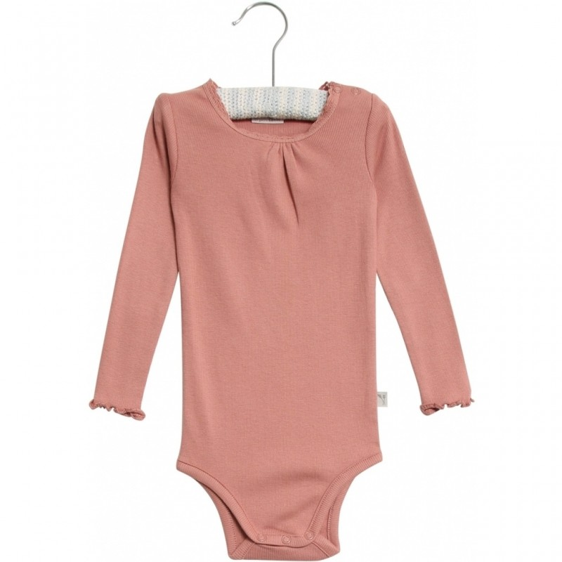 WHEAT Body rib Lace Soft Peach Rose-34