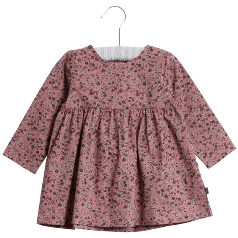 Blomstret langærmet kjole Elvia rosa-31